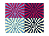 Pop Art Nova by Four Yellow Blue and Red Prints by  Luis Stortini Sabor aka CVADRAT