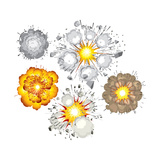 Detonation of Bomb, Fuel, Dynamite, Gas, Eruption Prints by  PILart