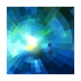 Abstract Blue Shining Tunnel Background Posters by  art_of_sun