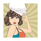 Pop Art Woman Cook Art par Eva Andreea