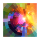Abstract Colorful Shining Circle Tunnel Background Art by  art_of_sun