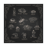 Design Elements for the Menu on the Chalkboard Print by  HelenStock