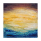Beautiful Abstract Textured Background of Evening Sunset Sky over the Ocean Posters by  Acik