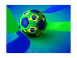Brazil World Cup Football Prints by  Novelo