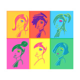 Young Fashion Woman Design, Pop Art Style Print by  lavitrei