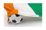 Ivory Coast Flag with Championship Soccer Ball Prints by  BarbraFord