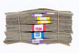 Bundles of Different Denomination Dollar Bills Prints by  oocoskun