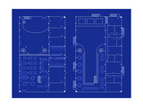 Simple Nightclub Blueprint Art by  bigldesign