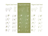 Organic Beef Meat Parts Posters by  ONiONAstudio