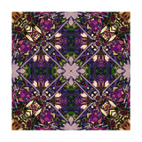 Art Nouveau Geometric Ornamental Vintage Pattern in Lilac, Violet and Blue Colors Prints by Irina QQQ