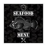 Fish for the Restaurant Menu Premium Giclee Print by  111chemodan111