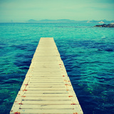 Boardwalk in Ses Illetes Beach in Formentera, Balearic Islands Prints by  nito