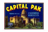 Capital Pak Pear Label Prints