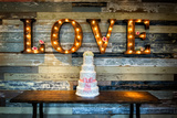 Wedding Cake with Love Photographic Print by  gregory21