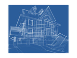 House Blueprint: Technical Draw Posters by  -Vladimir-