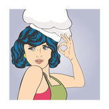 Pop Art Woman Cook Posters by Eva Andreea