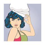 Pop Art Woman Cook Art by Eva Andreea