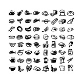 Food Icons Print by  bioraven