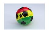 Soccer Ball with Ghana Flag Prints by  BarbraFord