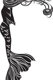 Crying Mermaid Stencil Posters par  kristina0702