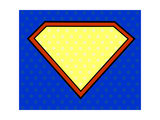 Super Hero Shield in Pop Art Style Prints by  PiXXart