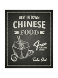 Chinese Food Poster on Black Chalkboard Prints by  hoverfly