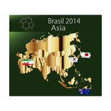 Brazil 2014 Team Asia Prints by  myotrostock