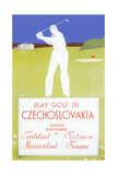 Golfing in Czechoslovakia Posters