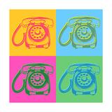 Pop Art Style Retro Phones Poster by  asakosakura