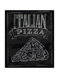Chalk Pizza Print by  bioraven