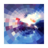 Abstract Violet Shining Circle Tunnel Background Posters by  art_of_sun
