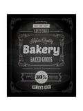 Bakery Label Poster, Chalk Typographic Design Posters by Ozerina Anna