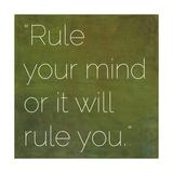 Inspirational Quote by Gautama Buddha (563 BC-483 BC) Giclee-tryk i høj kvalitet af  nagib