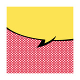 Speech Bubble Pop-Art Style Prints by  jirawatp