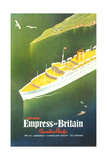 Empress of Britain Travel Poster Prints
