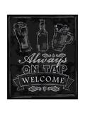 Chalk Beer Print by  bioraven