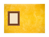 Grunge Yellow or Gold Stucco Wall with Empty Picture Frame Prints by  Virtuelle