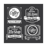 Vintage Coffee and Tea Labels Poster von  rtguest