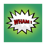 Wham! Comic Cloud in Pop Art Style Premium Giclee Print by  PiXXart