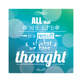 Quote, Inspiration Message, Typographic Background Print by  BlueLela