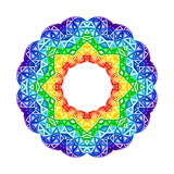 Rainbow Kaleidoscope Vibrant Circle Posters by  art_of_sun