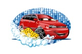 Car Washing Sign with Sponge Prints by  Mechanik