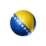 Soccer Football Ball with Bosnia and Herzegovina Flag Prints by  daboost