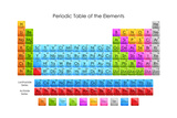 Tabla periódica de los elementos Lámina giclée prémium por  stockshoppe