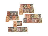 Have Goals, Make Efforts, Get Results, Feel Good Art by  PixelsAway