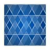 Glass Triangles Background Poster by Den Rakhuba