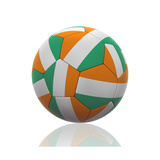 Soccer Ball with Ivory Coast Flag on White Posters