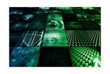 Cybernetics Mechanical Design as a Blueprints Art Prints by  kentoh