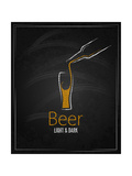 Beer Glass Chalkboard Menu Background Prints by  Pushkarevskyy