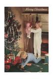 Children on Christmas Morning Prints